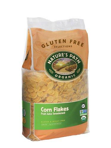 Nature's Path Organic Gluten Free Corn Flakes Fruit Juice Sweetened -- 26.4 oz - 2 pc
