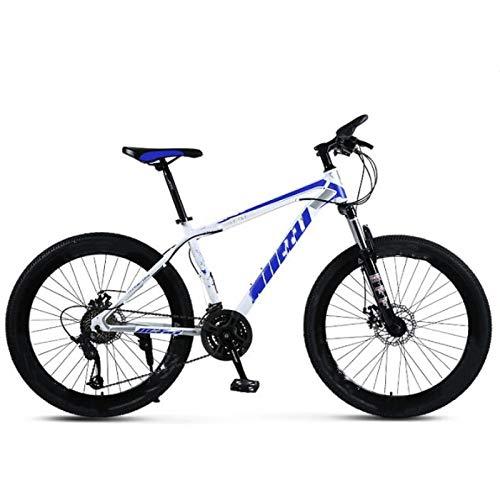 Vélo de montagne 26 pouces - Frein à disque - Absorption des chocs - 24 vitesses - Freins à disque - Vélo à neige - Pour environnement urbain et trajets vers et depuis le travail