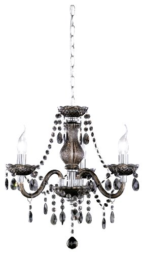 Reality Leuchten R11073002 Lustres en acrylique 3 ampoules 46 W E14 (non incluses) Noir 46 cm