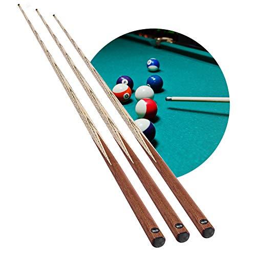 XYNH 3 Stück Billard Pool Queue, 57 Zoll Snooker Billard Pool Queue Stick, Handgemacht Hartholz Pool-Stick, In 18 Unzen, Ergonomisches Design Von Guter Qualität, Nettes Gleichgewicht Und Gewicht