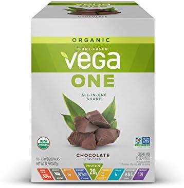 Vega One Organic Meal Replacement Plant Based Protein Powder Chocolate Vegan Vegetarian Gluten product image