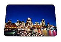 22cmx18cm マウスパッド (サンフランシスコの夜の街の明かり橋) パターンカスタムの マウスパッド