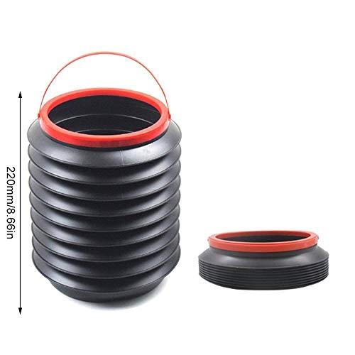 Whzjxb-zyp Autozubehör Auto-Multifunktions-Retractable Bucket Kreative Folding Lagerung Eimer Regenschirm Eimer Abfalleimer (Kapazität : 4L, Color Name : Schwarz)