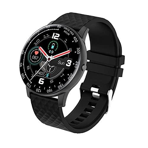 Rastreador De Actividad Inteligente Reloj Sraeriot H30 Reloj Del Perseguidor De La Pulsera Del Reloj Del Deporte Con La Presión Arterial Del Ritmo Cardíaco Hombres Mujeres Negro Smartwatch