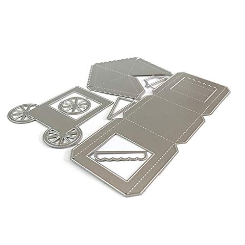 Popcorn Box Schneidegerät Für Papier,Prägeschablonen Stanzformen Schneiden Für DIY Karte Sammelalbum Scrapbooking Fotoalbum Deko