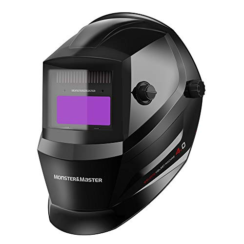 Monster&Master Large Viewing Screen Auto Darkening Welding Helmet, 2 Arc Sensor Wide Shade, MM-WH-003