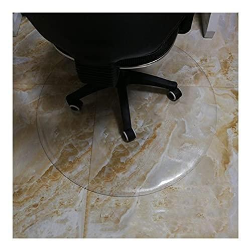 WJDY Redondo Alfombra Piso PVC, Transparente Alfombra Plastica, Cojín para Silla De Ordenador, Alfombrilla De Oficina, Personalizable (Color : Clear-1.5mm, Size : Diameter 120cm)