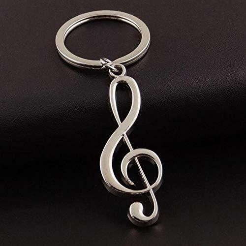 DDOQ Mode Schlüsselanh er Musiknote Form Keychain Schlüsselanh er
