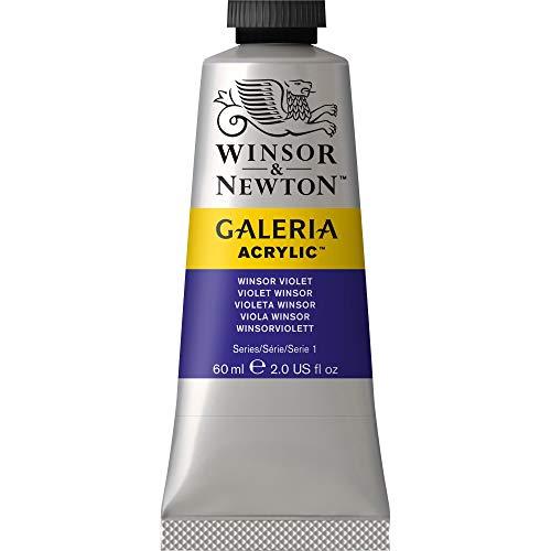Winsor & Newton 2120728 Galeria Acrylic Paint, 60-ml Tube, Winsor Violet, 2 Fl Oz