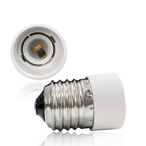 VARICART Convertitore Base Lampada da E27 a E14, Adattatore Attacco Lampadina, Spina Resistente al Calore Potenza Massima 500W, Nessun Pericolo di Incendio Fino a 220 Gradi (Confezione da 5)