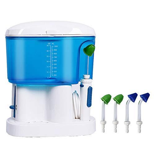 Elektrische Nasenwasch-Allergische RhinMunddusche Elektrisch Nasal Waschen Mehrzweckmaschine Nasenhöhle Flusher Zahnreiniger,Blue,225x12x188