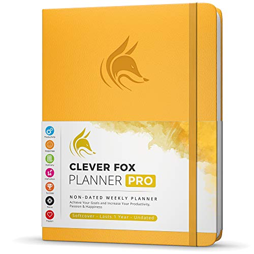 Clever Fox Planner PRO - Weekly & Monthly Life Planner to Increase Productivity, Time Management and Hit Your Goals - Organizer,...