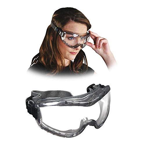 MCR MCR-STRYKER-F-T - Occhiali protettivi, confezione da 12, colore: Grigio trasparente