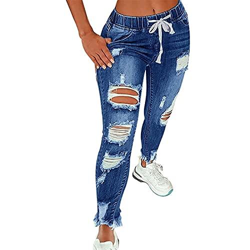VCTKLN Pantalones de mujer   Pantalones vaqueros   Pantalones vaqueros de cintura alta   Pantalones informales...