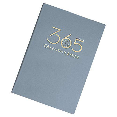 jojofuny 2021 Calendario Cuaderno Planificador de Citas Diarias Cubierta de Cuero Libro de Horarios Diario de 365 Días Planificador Semanal Y Mensual para La Oficina de La Escuela