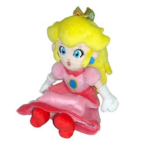 Little Buddy Toys Official Super Mario Plush 8' Princess Peach