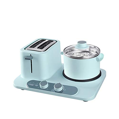 ZHGCHF Máquina de desayuno multifuncional para el hogar combinación automática tres en uno sándwich a la parrilla y huevo cocido cocina eléctrica para dormitorio