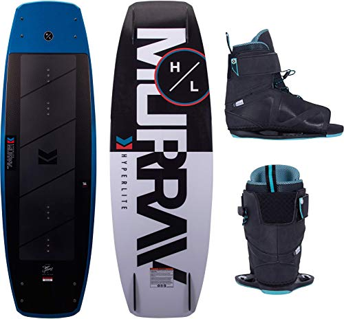 Hyperlite Murray Mens Wakeboard 144 W/Session Bindings Black/Blue