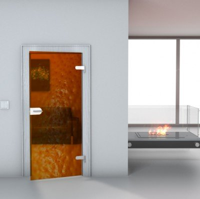 "Glastürfolie Transparent selbstklebend ""Orange"" Türfolie Glastür Folie Poster Türtapete Tapete Fototapete Türposter 85cm x 165cm"