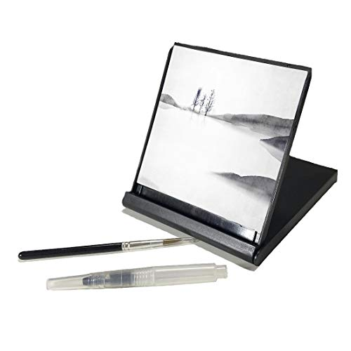AOVOA Repeatable Water Drawing Board, Water Painting Board with Bamboo Brush and...