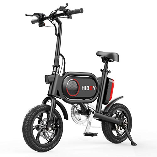 Hiboy P10 Folding Electric Bike for Adults, Power Assist, 36V Lithium Ion Battery, Ebike with 12 inch Wheels and 350W Hub Motor