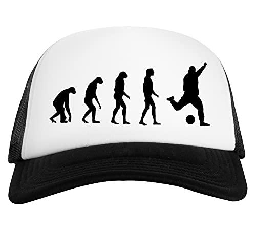 Evolucionado A Tocar Fútbol Gorra De Béisbol Unisex Blanca Negra White Black Baseball Cap Unisex