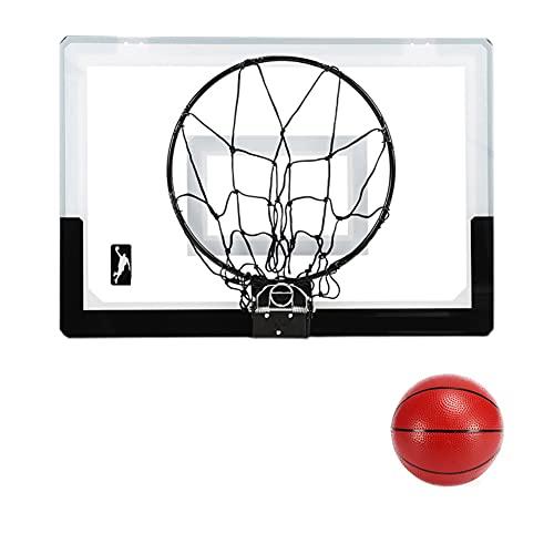 MHCYKJ Canasta Baloncesto Interior Puerta Infantil De Basquetbol con Bola Y Bomba Tablero Pared Pelotas para Puertas Casa Oficina