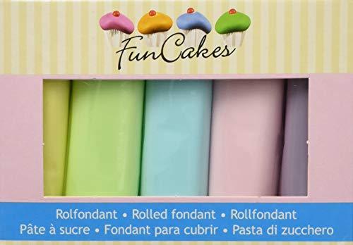 FunCakes Rollfondant Multipack Pastel Colours,1 Pack (500 g)
