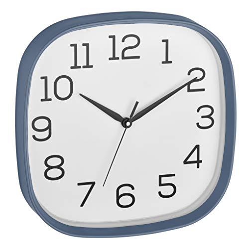 TFA Dostmann 60.3053.06 - Reloj de Pared analógico con Mecanismo de Barrido silencioso y Tapa de Cristal Azul Paloma (295 x 55 x 295 mm)