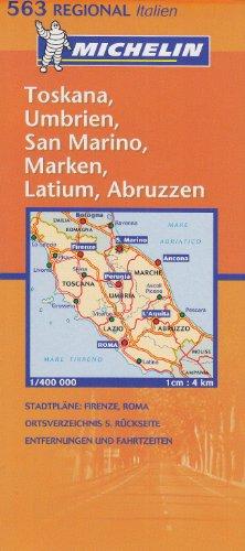 Regionalkarte Toskana, Umbrien (MICHELIN Regionalkarten)