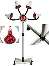 Dmygo Red Light Hair Dryer 5-Lights Accupuncture Beauty Treatment with Stand & Flexible Arm, 750W