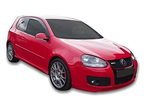 J&J AUTOMOTIVE   Deflecteurs d'air déflecteurs de Vent Compatible avec Golf V 3 Portes 2004-2008 2 pièces