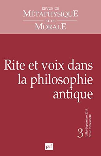 Revue de Metaphysique et Morale, 2019-3
