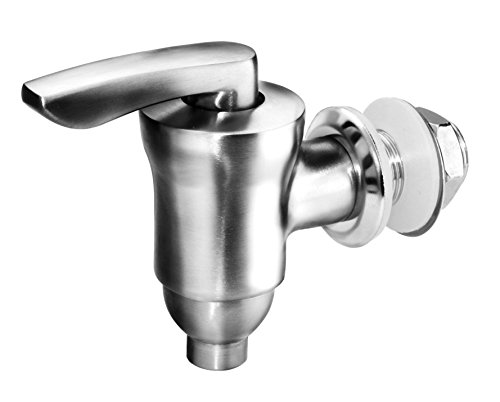 Beverage Dispenser Replacement Spigot,Brushed Stainless Steel and Ceramic Valve, Water Dispenser Replacement Faucet, fits Berkey and other Gravity Filter systems as well
