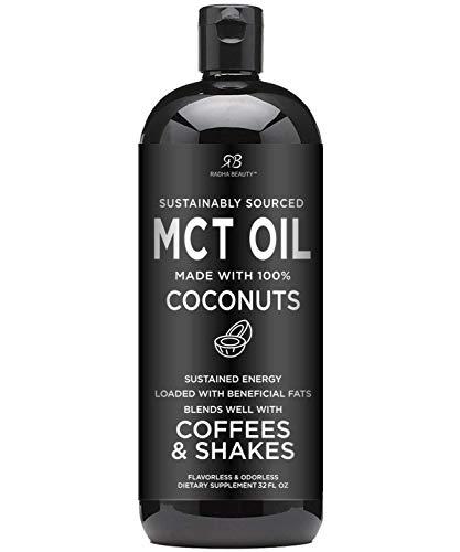 Premium MCT Oil from Non-GMO Coconuts - 32oz. Keto, Paleo, Gluten Free and Vegan Approved.