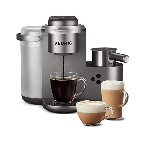 Image of the Keurig K-Cafe Special Edition Coffee Maker, Single Serve K-Cup Pod Coffee, Latte and Cappuccino Maker, Comes with Dishwasher Safe Milk Frother, Coffee Shot Capability, Nickel