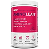 RSP AminoLean - All-in-One Pre Workout, Amino Energy, Weight Management Supplement with Amino Acids, Complete Preworkout Energy for Men & Women, Fruit Punch, 70 (Packaging May Vary)