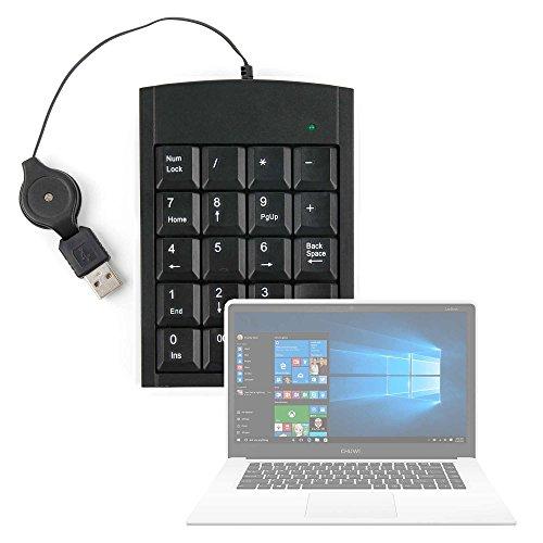 DURAGADGET Teclado Numérico con Cable Retráctil para Portátil Chuwi LapBook Air/InnJoo LeapBook A100 / Prixton Netbook 10.1 - con Conexión USB