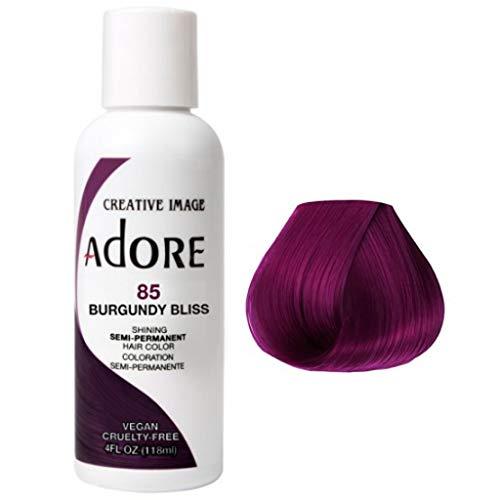 Adore Semi-Permanent Haircolor (118ml) (4 Ounce, 085 Burgundy Bliss)
