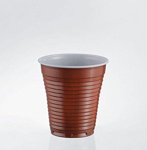 100 Bicchieri Bicolore Distributori Caffè Cappuccino Plastica 160cc
