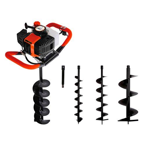 Kiam KA500 52cc Petrol Earth Auger Hole Borer Fence Post Digger (3 Drill Bits & Extension) 2 stroke
