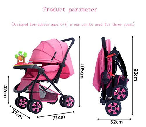 RAPLANC High View And Stylish Stroller, Baby Stroller for 2020, Four-Wheel Shock Absorption, 360-Degree Rotation Function, for Travel, Girly Heartpink,Blue RAPLANC ★ Fit kids 3-years up to 25kgs.Carbon steel material design to protect the safety of the baby.Can be fold into a very small size. Easy for traveling and car trips. Convenient one-hand and self-standing fold are smooth when use for pack up and go. ★ Large extended foldable canopy for maximum sun shade. A week-a-boo window, you can easily keep a watchful eye on your baby. Stay connected with your baby and no more worry while ensuring ventilation. Enlarge and easy to access storage basket holds all baby's necessities. Detachable cloth covers for easy cleaning. ★ Powder coating crafts. High quality material without pollutant. Small, light and practical. Armrest can be opened quickly in the middle. Detachable armrest offers safety guard and also allows baby easily in and out. 8