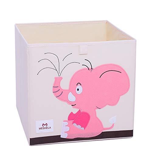 Meshela Aufbewahrungsbox für Kinderzimmer faltbarer waschbarer Cartoon Spielzeugkiste geeignet für Spielzeug, Kleidung, Kinderbücher Aufbewahrungskiste (Elefant)
