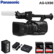 Panasonic AG-UX90 4K/HD Handheld Camcorder Accessory Kit with 2 x SDXC Memory Cards