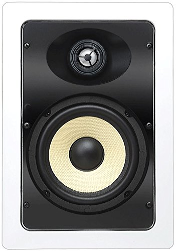 """OSD Audio IW690 6.5"""" Kevlar In Wall Home Theater Speaker (Pair, White)"""