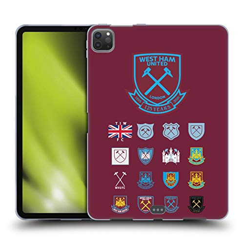 Head Case Designs Officially Licensed West Ham United FC Pattern 2 Crest History Soft Gel Case Compatible with Apple iPad Pro 11 (2020)