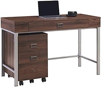 Realspace 47 Inch W Brezio Computer Desk with Mobile File Cabinet