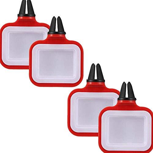 Auto Soßenhalter, 4 Stück Saucenhalter Im Auto Pommes Frites Gewürzbox Auto Tomatensauce Rack Auto Sauce Halter für Ketchup-Dip-Saucen tragbar,Sicher Und Bequem, Halten Sie Das Auto Sauber Rot