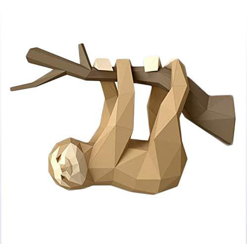 DAGCOT Papierhandwerk DIY Papier Wandtrophäe 3D Origami Tier Wanddekor Kunststück Erstellen Sie Ihren eigenen Cartoon für Wohnzimmer Lernspiele Handwerk Aktivität