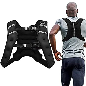 Aduro Sport Weighted Vest Workout Equipment 4lbs/6lbs/12lbs/20lbs/25lbs/30lbs Body Weight Vest for Men Women Kids  30 Pounds  13.61 KG